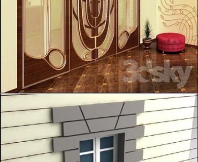دانلود رایگان مدل سه بعدی در و پنجره