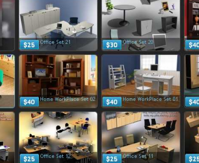 Humster3D - Office Sets and Office Furniture 3D Models (1)