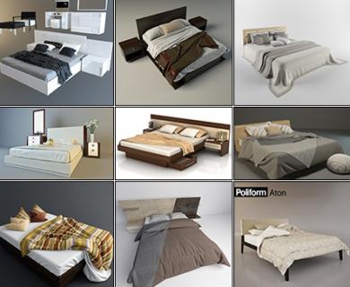 3DDD - Modern Bed (1)