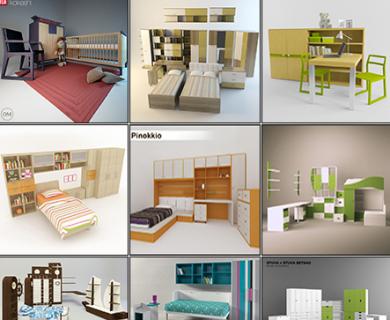 3DDD - Modern Furniture Childroom Set (1)