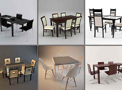 3DDD - Modern Table and Chair Set (1)