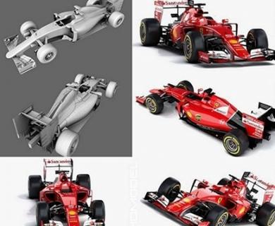 CGTrader - Ferrari SF15-T Formula 2015 (1)