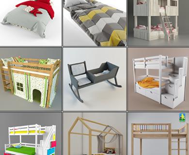 3DDD - Modern Bed Childroom (1)