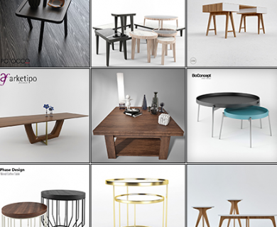 3DDD - Modern Table Collection 1 (1)