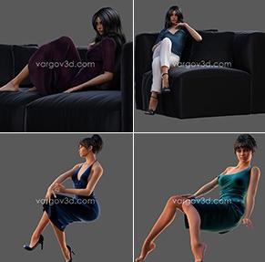 Vargov3d - 3D models People Collection (1)