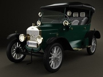 Humster3D - Ford Model T 4door Tourer 1924 3D Model (1)