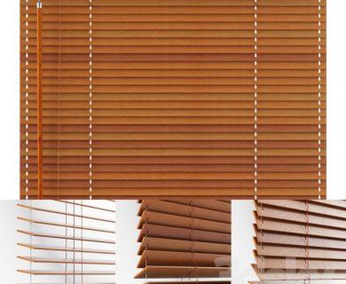 مدل سه بعدی کرکره چوبی