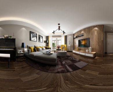مدل سه بعدی صحنه داخلی Nordic با فرمت 360 درجه