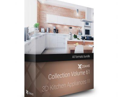 مدل سه بعدی لوازم آشپزخانه