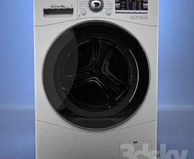 مدل سه بعدی ماشین لباسشویی