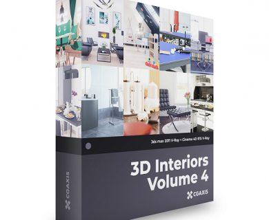 مدل سه بعدی صحنه داخلی