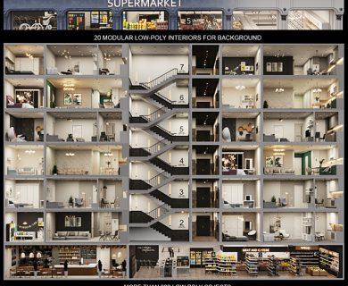 مدل سه بعدی ساختمان